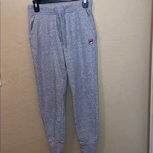 Fila gray jogger sweats